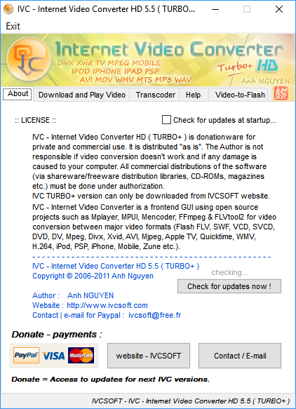 IVCSOFT - IVC - Internet Video Converter TURBO+